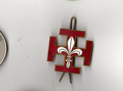 Scouts Association des Scouts Catholiques (?) Beret Hat Pin Catholic Scouts