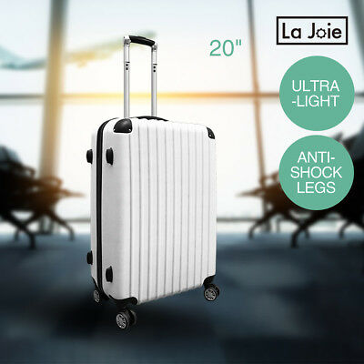 "20"" Luggage Suitcase Travel Trolley Carry On Bag Hard Case TSA Lock Lightweight"