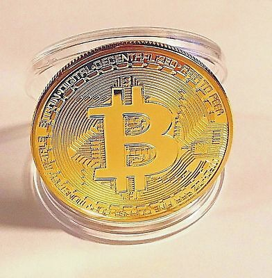 BITCOIN. Physical Gold Plated Bitcoin FAST SHIPPING!!!!