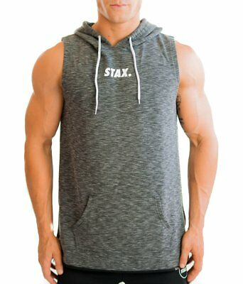 New  STAX. Sleeveless Hoodie - Space Grey