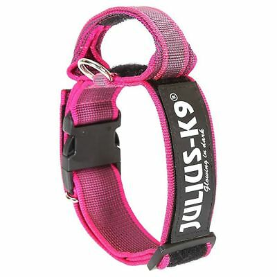 Julius K9 Collare Cani Collarino 40 mm 38-53 cm Nylon Rosa 100HA-K-PN-2015