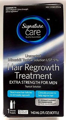 Signature Care Hair Regrowth Treatment Men One Month Supply 1- 60 ml 2 fl oz NEW