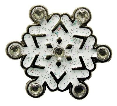Navika Snowflake Glitzy Ball Marker with. Crystal and Hat Clip. Navika USA Inc.