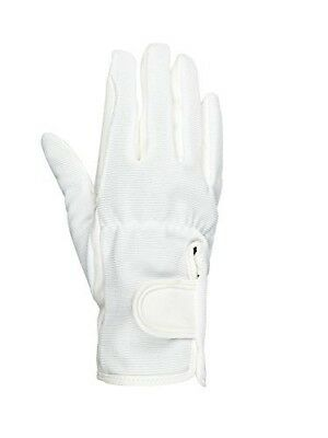 (JRM, White) - Horze Spirit Multi-Stretch riding gloves - Child. Brand New
