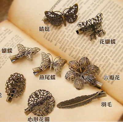 Women Lady Vintage Butterfly Hair Clip Barrette Hairpin Hair Accessories