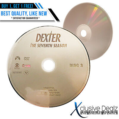 Disc 3 ONLY Dexter The Seventh Season Drama NR DVD (Nearly New) #34 XDEALZ