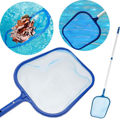 Professional Leaf Rake Mesh Frame Net Skimmer Cleaner Swimming Pool Spa Tools LJ