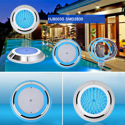 300*44mm RGB Led Swimming Pool Light Stainless Steel 12V 35W Resin Filled Decor