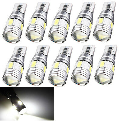 10x T10 501 194 W5W 5630 LED SMD Car HID Canbus Error Free Wedge Light Lamp Bulb