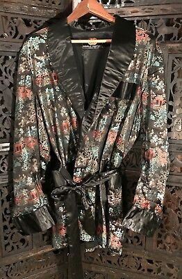 Vintage Mens Silk Brocade Smoking Jacket Robe Never Worn