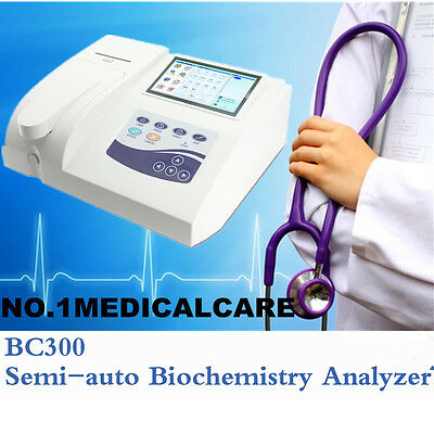 Semi-auto Biochemistry Analyzer,Color LCD+thermal printer, blood glucose/lipids