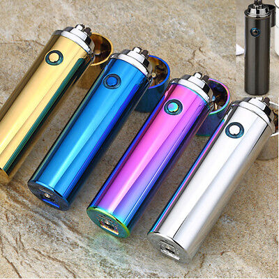 Electric Windproof Flameless Lighter Dual Arc Cigarette Plasma USB Rechargeable