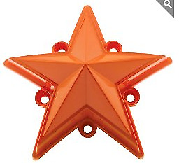 KMC XD 827 Rockstar 3 Orange Replacement Star (5 pack) Fits S1004-04 Caps ONLY