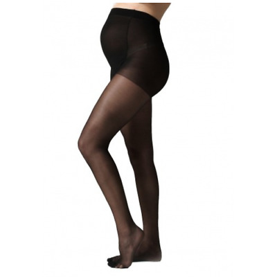 NEW Maternity Seraphine Black Maternity Tights Pregnant Breastfeeding