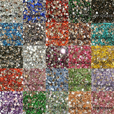 1000-10000X High Quality Rhinestone Resin Crystal Flat Back Gems Nail Art Craft