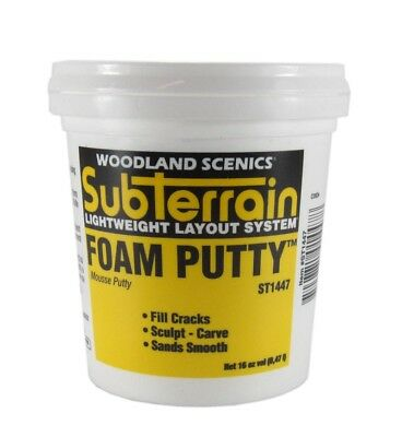 WOODLAND Foam Putty ST1447  - Model Trains + Other Hobbies - Watch Video