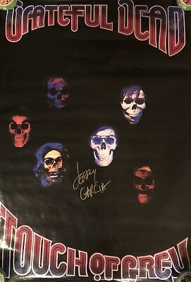 Grateful Dead Poster Autographed By Jerry Garcia