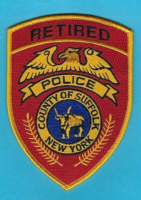Suffolk County Police Dept Retired Officer Patch ~ Very Nice Retirement Gift