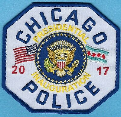 Chicago Police Dept 2017 Presidential Inauguration Patch ~ Trump/pence ~ L@@k