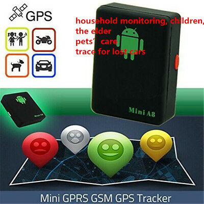 A8 Mini Time Car&Kid&Pet GSM/GPRS/GPS Global Locator Real Tracking Tracker Braw