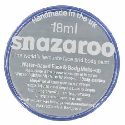 PROFESSIONAL 18 ml LIGHT GREY Halloween SNAZAROO FACE & BODY PAINT MAKE UP