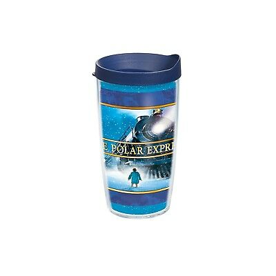 (470ml, Clear) - Tervis Polar Express Individual Wrap Tumbler with Navy Lid,