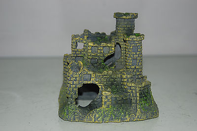 Detailed Aquarium Small Stone Castle Decoration 11 x 7.5 x 10 cms