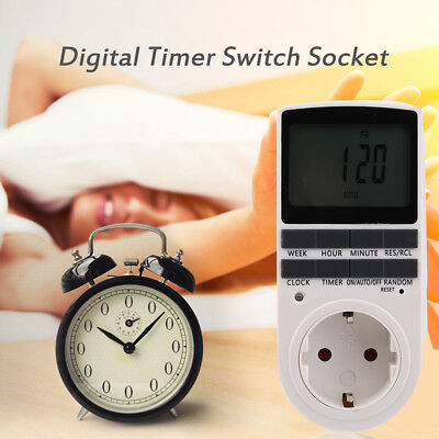 Electrical Plug In Energy Saving Programmable Digital Timer Plug Switch Socket T