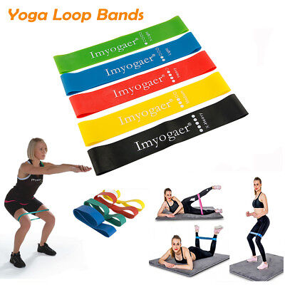 Elastic Resistance Loop Bands GYM Yoga Exercise Fitness Workout Stretch Physio