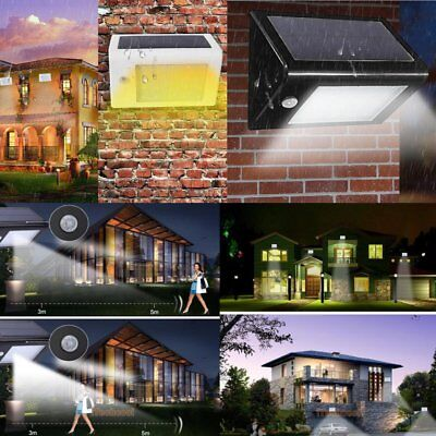 Super Bright Solar Power PIR Motion Sensor 20 LED Garden Wall Path Light Lamp GT