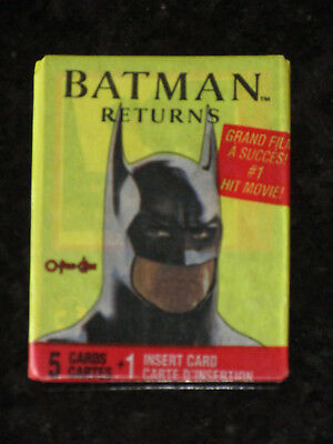 BATMAN RETURNS 1992 O-Pee-Chee Trading Cards Pack O Pee Chee Topps