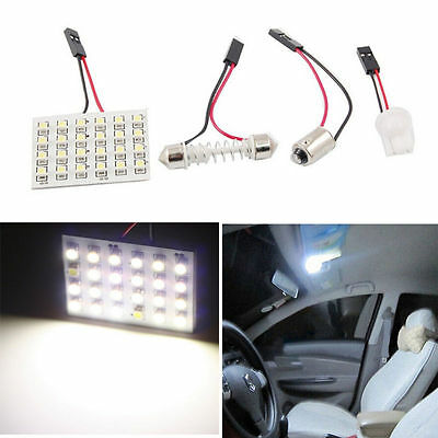 12V Panel 24SMD Car Interior LED White Map Dome Light Lamp Super Universal XX
