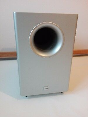 Canton AS 10 Aktiver Subwoofer Basskiste POWERED SUBWOOFER Silber