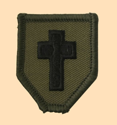 NEW OFFICIAL Chaplains collar patch, Olive PAIR