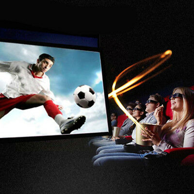 Portable Movie Screen Projection Curtain 16:9 Polyester Soft Foldable Video