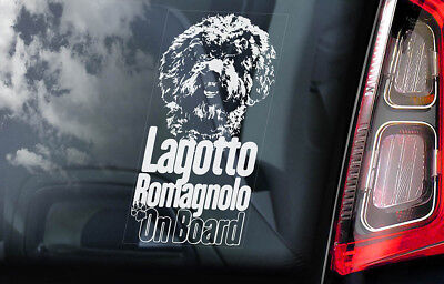 Lagotto Romagnolo on Board - Car Window Sticker - Romagna Water Dog Decal - V01