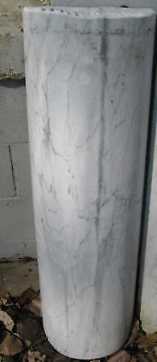 White Italian Marble Half Round Column Section Architectural Salvage