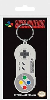Pyramid Official Nintendo Gameboy or Snes Controller Rubber Keyring / Keychain