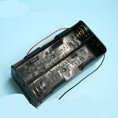 1 Pcs 8 x  1.5V C Size Battery Holder Case  DC Box With Wire Lead  New