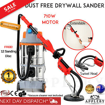 NEW Drywall Sander Plaster Board Dust Free Sanding Disc Dry Wall Gyprock 6 Speed