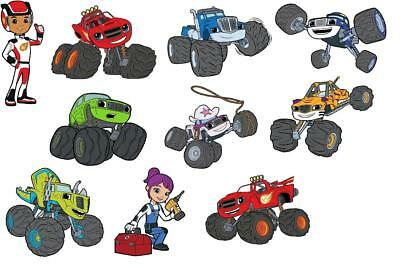 10 Blaze And The Monster Machines Wall Stickers 3 Sizes Vinyl / Photopaper