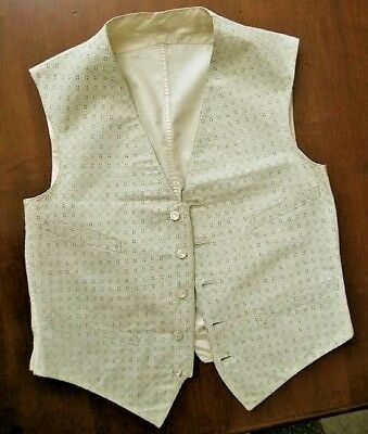 Man's Vest, Circa 1930, Well Made, Four Pockets, Kling Chicago, Free US Shipping