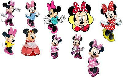 10 Minnie Mouse Wall Stickers 3 Sizes Vinyl / Photopaper