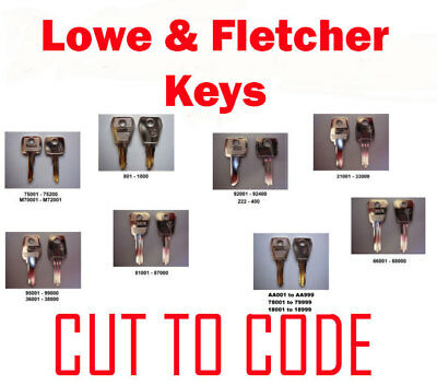 2 x Replacement Lowe & Fletcher Keys Cut to Code - FREE P&P