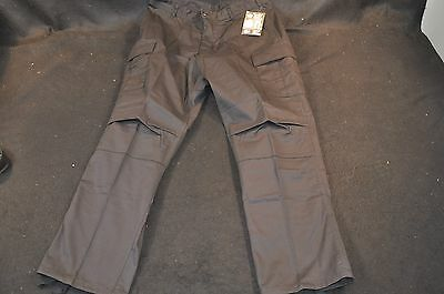 NEW Rothco Large Regular Black BDU Pants 55% Cotton 45% Polyster Cargo Trousers