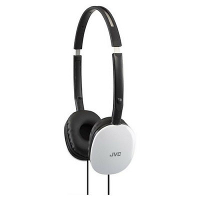 Jvc Flats Lightweight On-Ear Headphones For Iphone & Android-White-Ha-S160-W