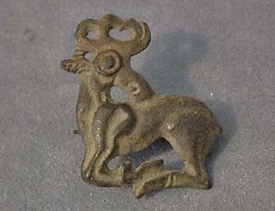 Rare Ancient Scythian Bronze Deer Fibula 6th-4th Century B.C.