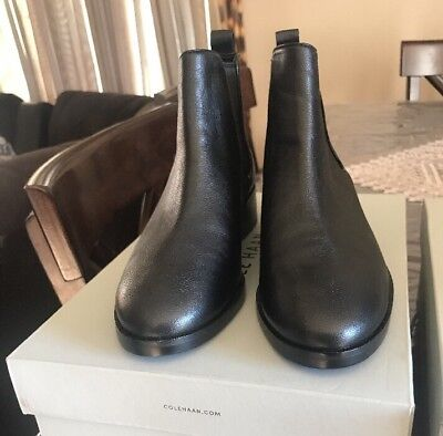 1201ac6ef9b COLE HAAN WOMENS Landsman Bootie - Black Leather New! - $59.99 ...