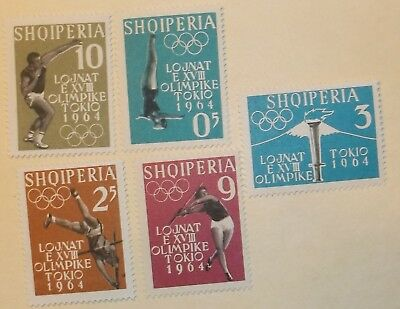 Albania Stamp 616-20  MNH Cat $5.85 Olympics,  Sports Topical