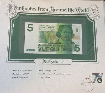 World Banknotes Netherlands 5 gulden 1973 P 95 UNC 4551